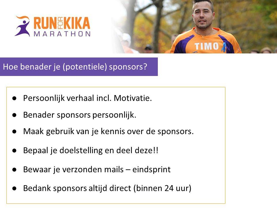 Hoe benader je (potentiele) sponsors.●Persoonlijk verhaal incl.