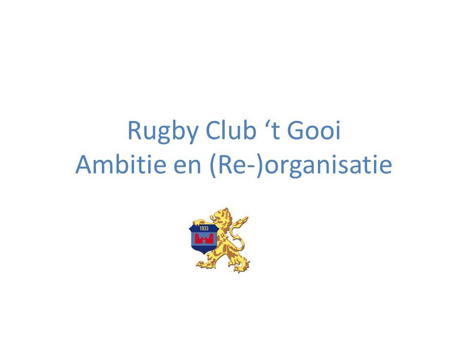 Rugby Club 't Gooi Ambitie en (Re-)organisatie