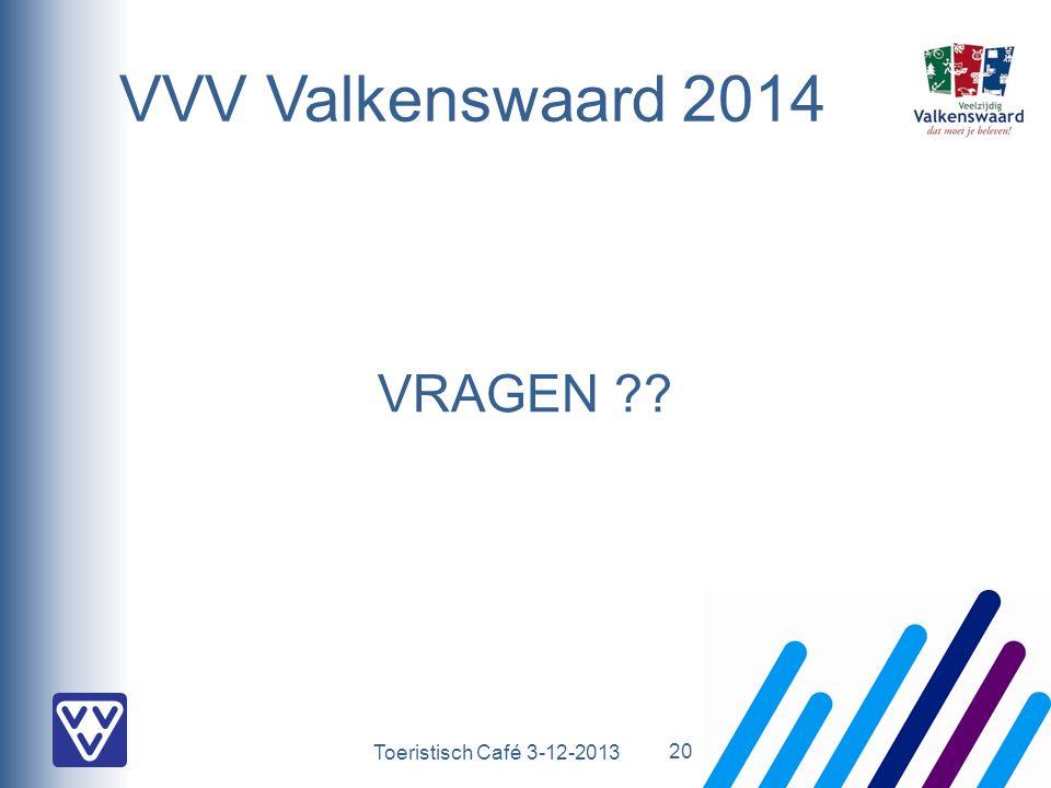 Toeristisch Café 3-12-2013 VVV Valkenswaard 2014 VRAGEN ?? 20