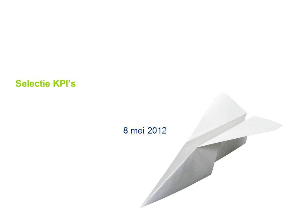 © 2011 Deloitte The Netherlands Selectie KPI's 8 mei 2012