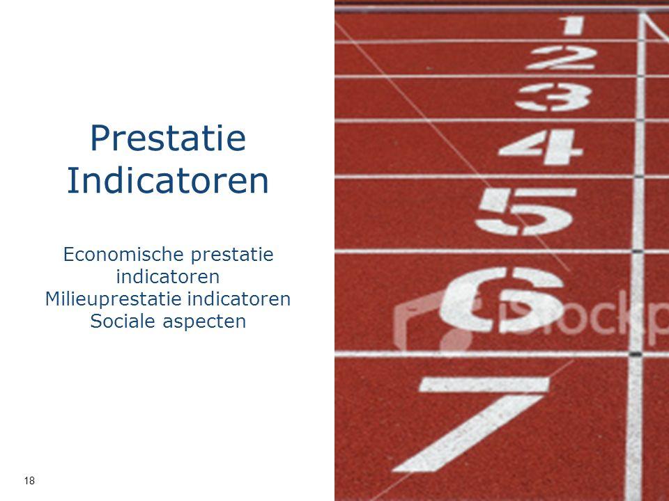 © 2011 Deloitte The Netherlands Prestatie Indicatoren Economische prestatie indicatoren Milieuprestatie indicatoren Sociale aspecten 18