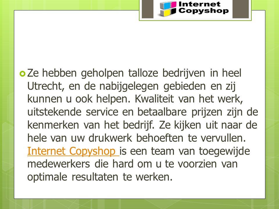  Ze hebben geholpen talloze bedrijven in heel Utrecht, en de nabijgelegen gebieden en zij kunnen u ook helpen. Kwaliteit van het werk, uitstekende se