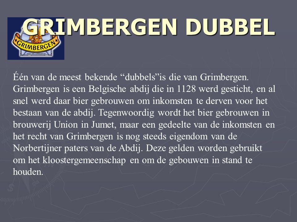 Één van de meest bekende dubbels is die van Grimbergen.
