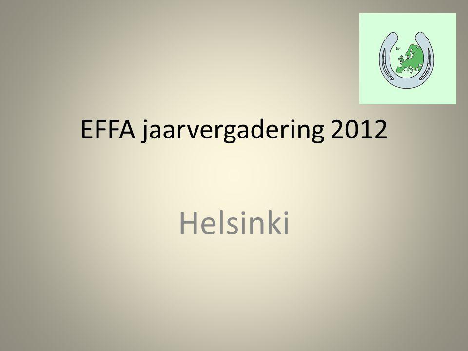 EFFA jaarvergadering 2012 Helsinki