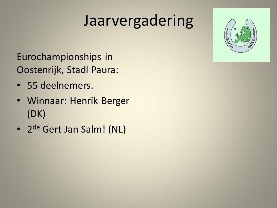 Jaarvergadering Eurochampionships in Oostenrijk, Stadl Paura: 55 deelnemers.