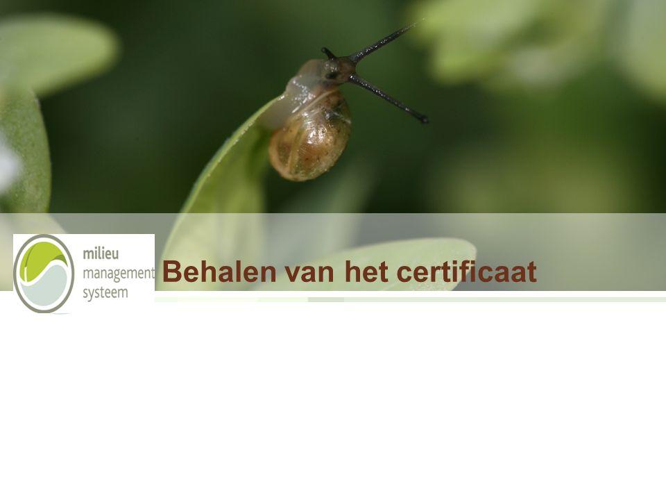 Behalen van het certificaat