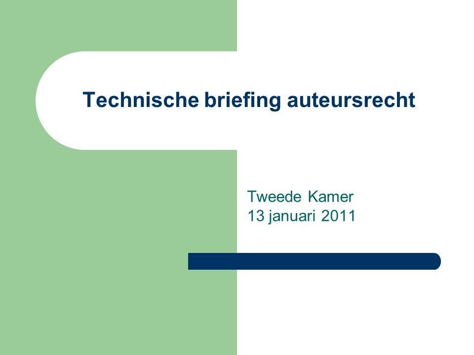 Technische briefing auteursrecht Tweede Kamer 13 januari 2011