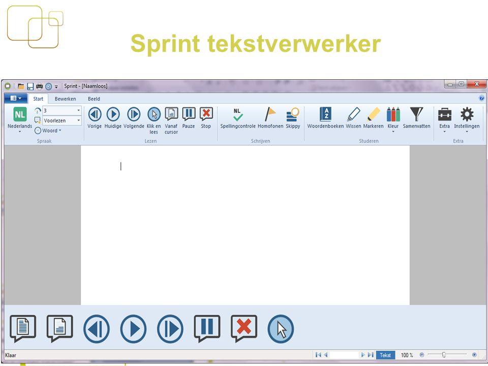 15 Sprint tekstverwerker