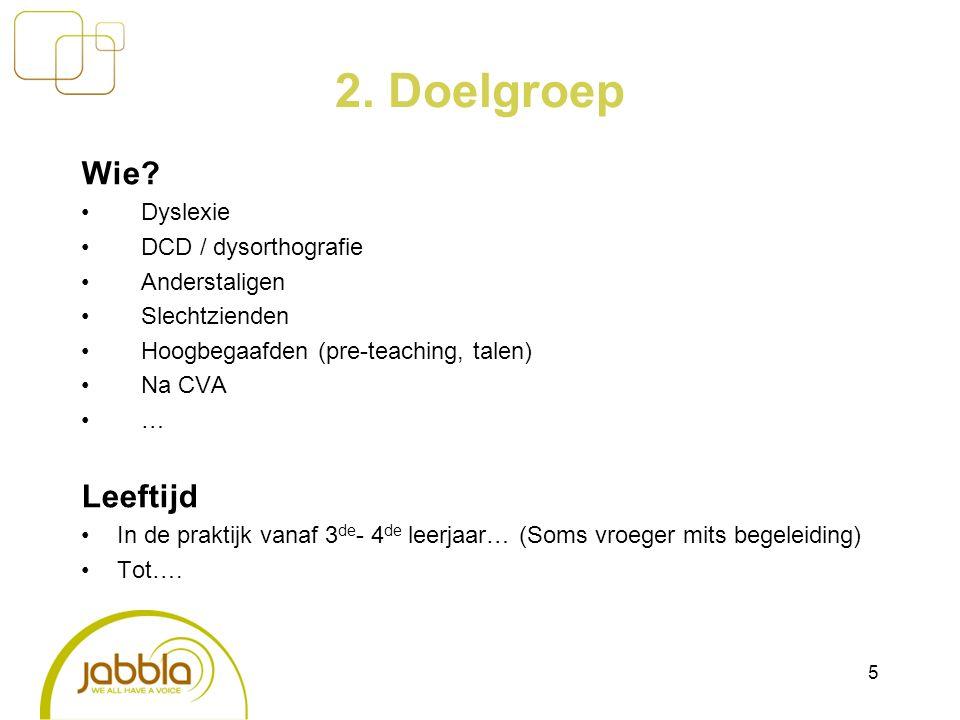 2. Doelgroep Wie.