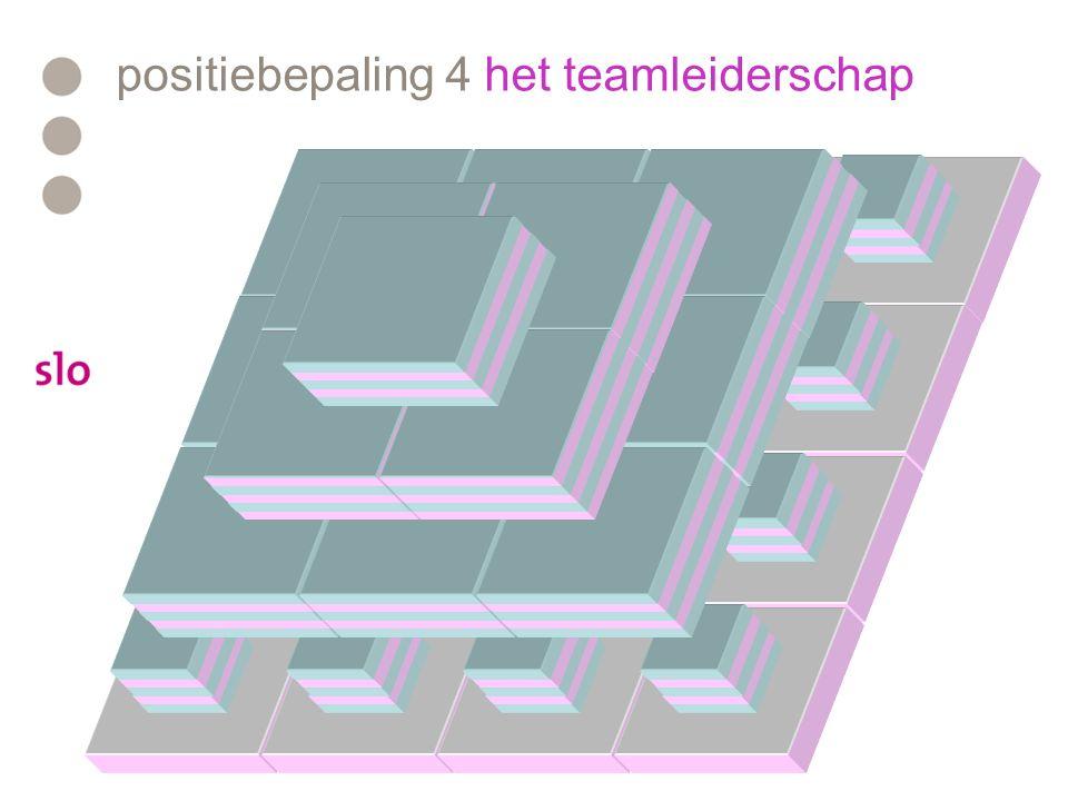 positiebepaling 4 het teamleiderschap