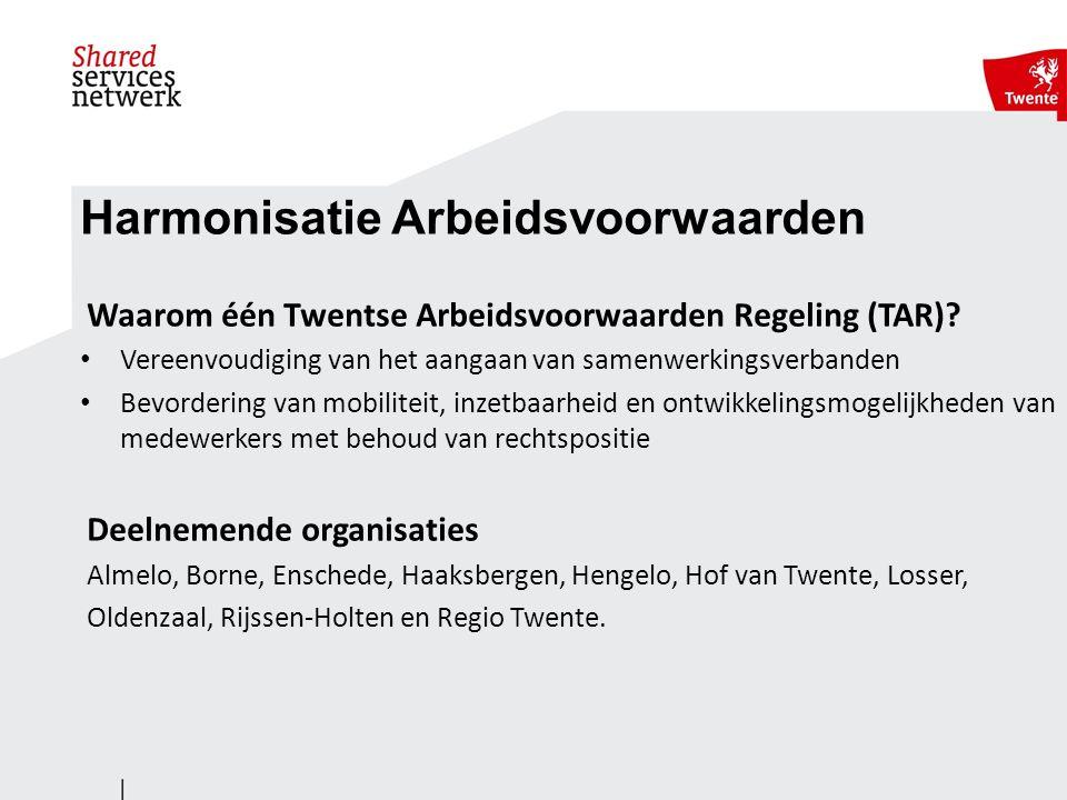 Harmonisatie Arbeidsvoorwaarden Waarom één Twentse Arbeidsvoorwaarden Regeling (TAR).