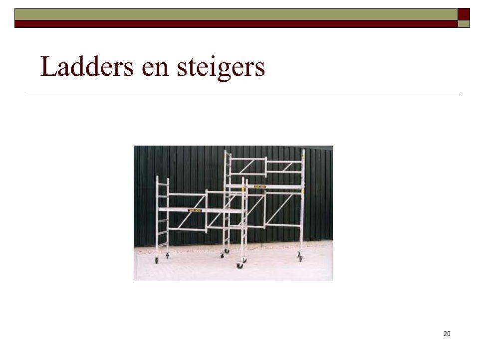 20 Ladders en steigers