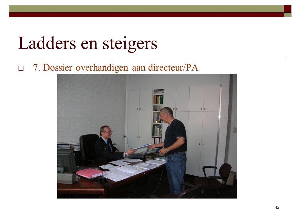42 Ladders en steigers  7. Dossier overhandigen aan directeur/PA