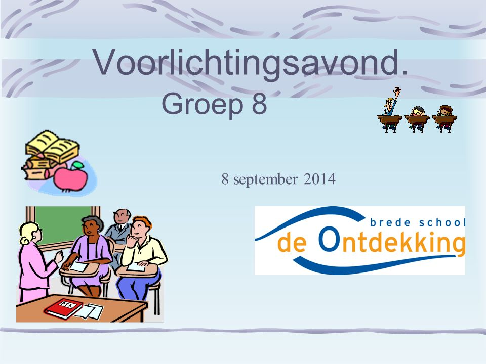 Agendapunten: Welkom.Info over agenda/huiswerk/weektaak.