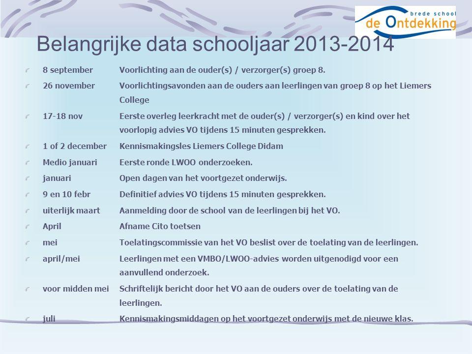 Citotoets groep 8 Doel:Meten van de schoolvorderingen.