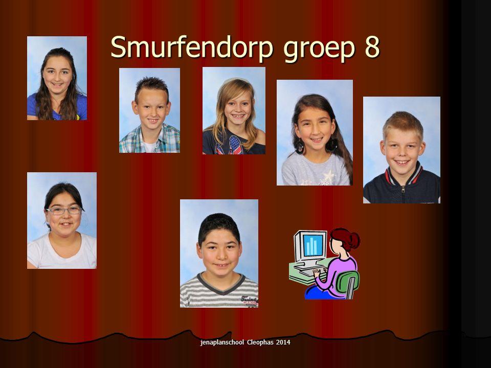 Smurfendorp groep 8 jenaplanschool Cleophas 2014