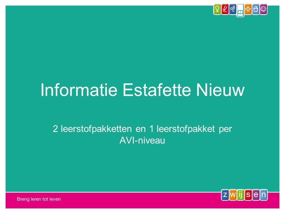 Informatie Estafette Nieuw 2 leerstofpakketten en 1 leerstofpakket per AVI-niveau