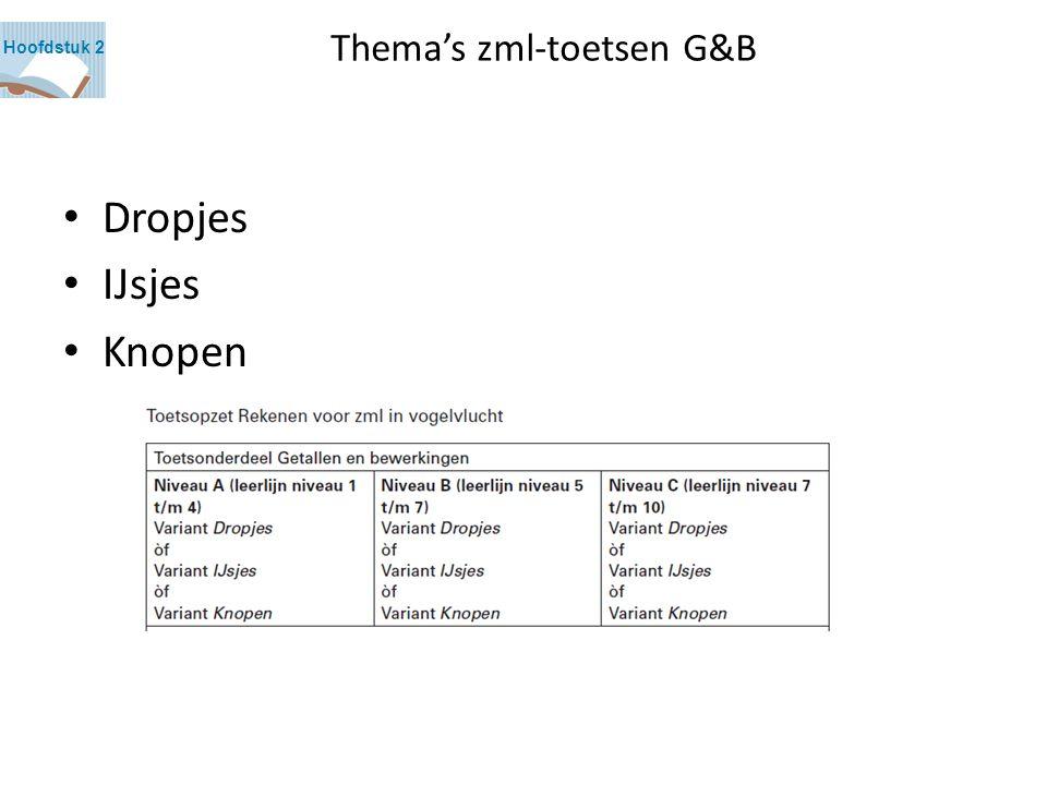 Thema's zml-toetsen G&B Dropjes IJsjes Knopen Hoofdstuk 2