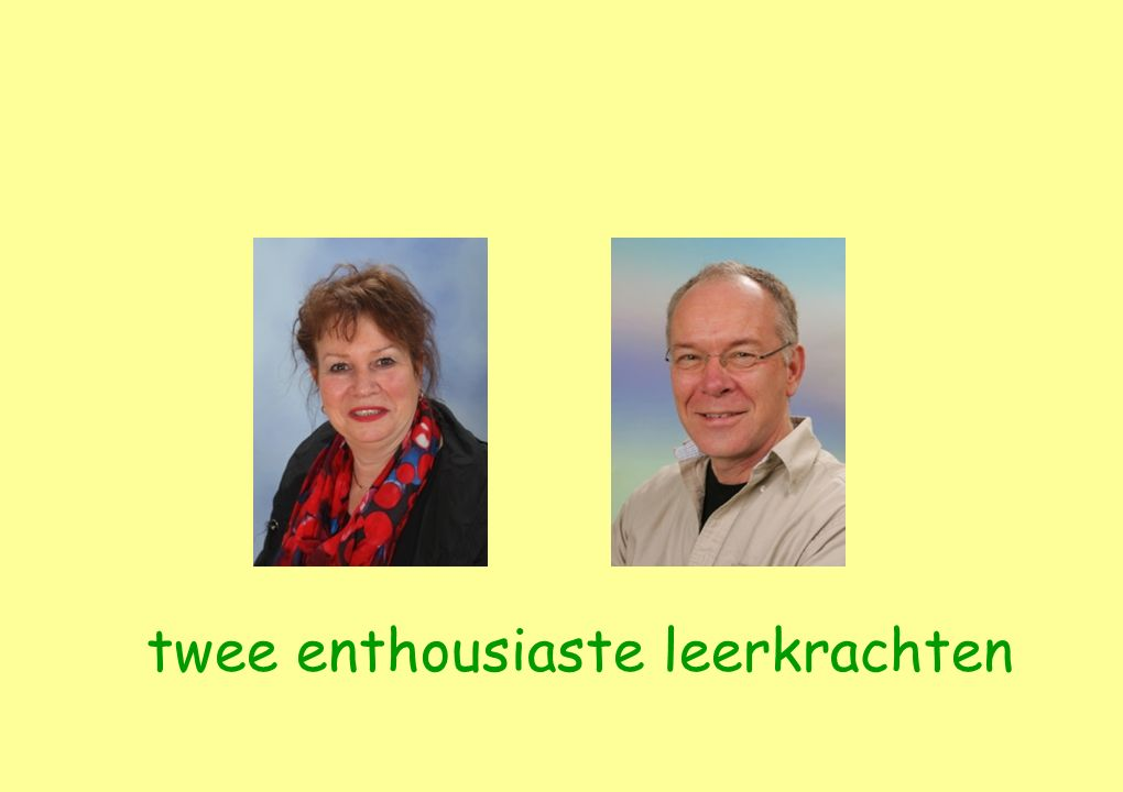 twee enthousiaste leerkrachten