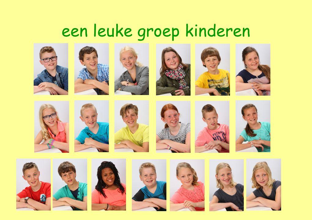 een leuke groep kinderen