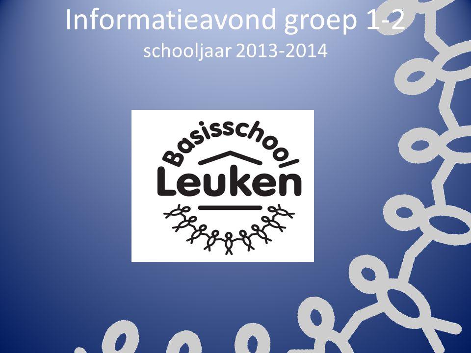 Informatieavond groep 1-2 schooljaar 2013-2014