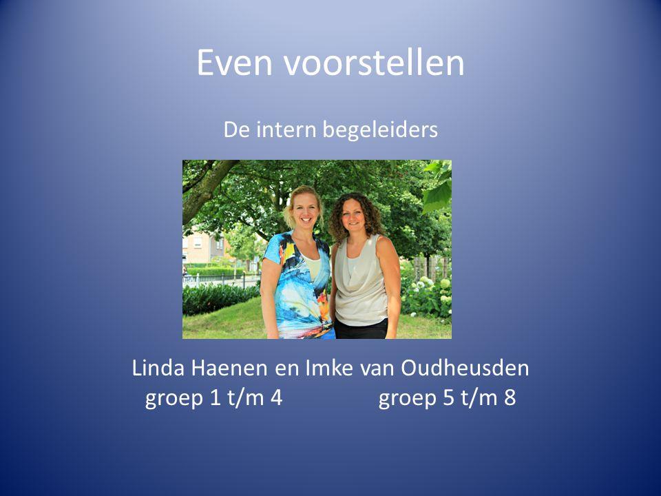 Even voorstellen De intern begeleiders Linda Haenen en Imke van Oudheusden groep 1 t/m 4 groep 5 t/m 8