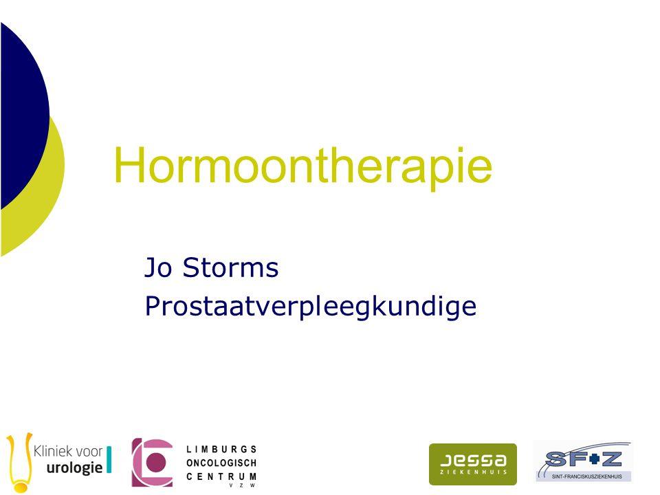 Hormoontherapie Jo Storms Prostaatverpleegkundige