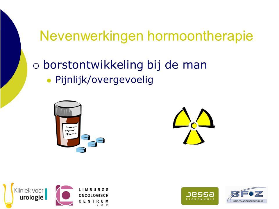 Nevenwerkingen hormoontherapie  borstontwikkeling bij de man Pijnlijk/overgevoelig