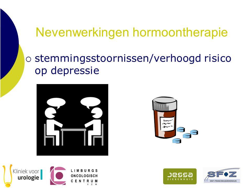 Nevenwerkingen hormoontherapie  stemmingsstoornissen/verhoogd risico op depressie