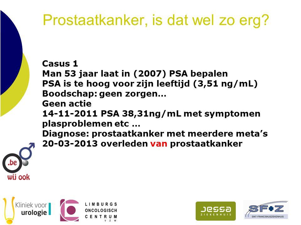 Prostaatkanker, is dat wel zo erg. Diagnoses over de jaren.