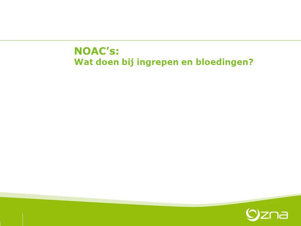 NOAC's: Wat doen bij ingrepen en bloedingen?