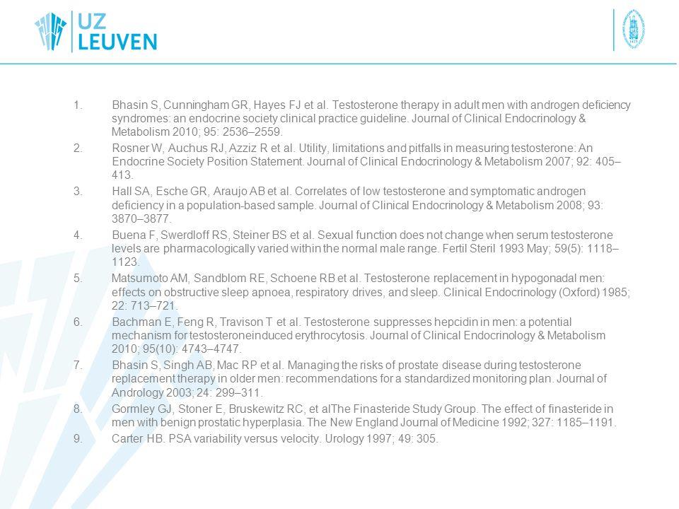 1.Bhasin S, Cunningham GR, Hayes FJ et al.