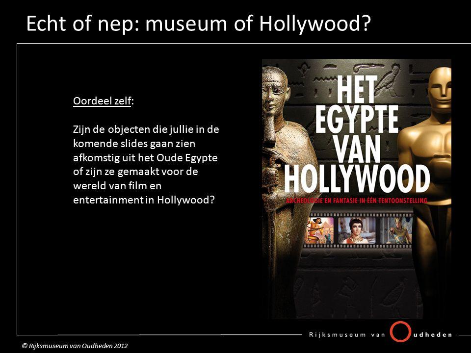 Echt of nep: museum of Hollywood.Halskraag Echt of nep...
