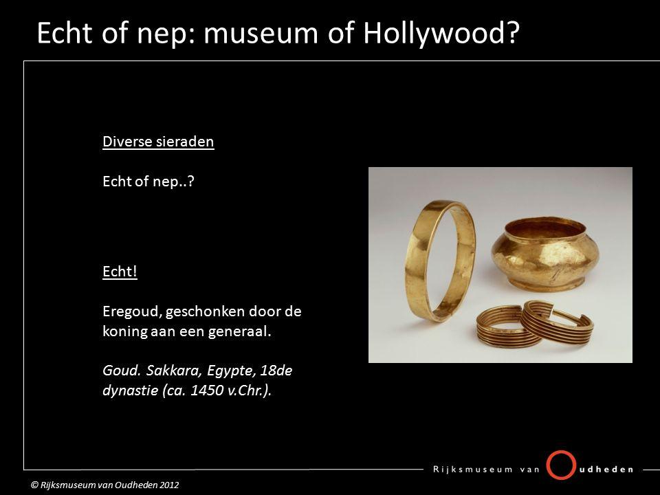 Echt of nep: museum of Hollywood.Zwaard Echt of nep...