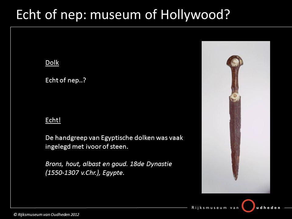 Echt of nep: museum of Hollywood.Hartscarabee Echt of nep...