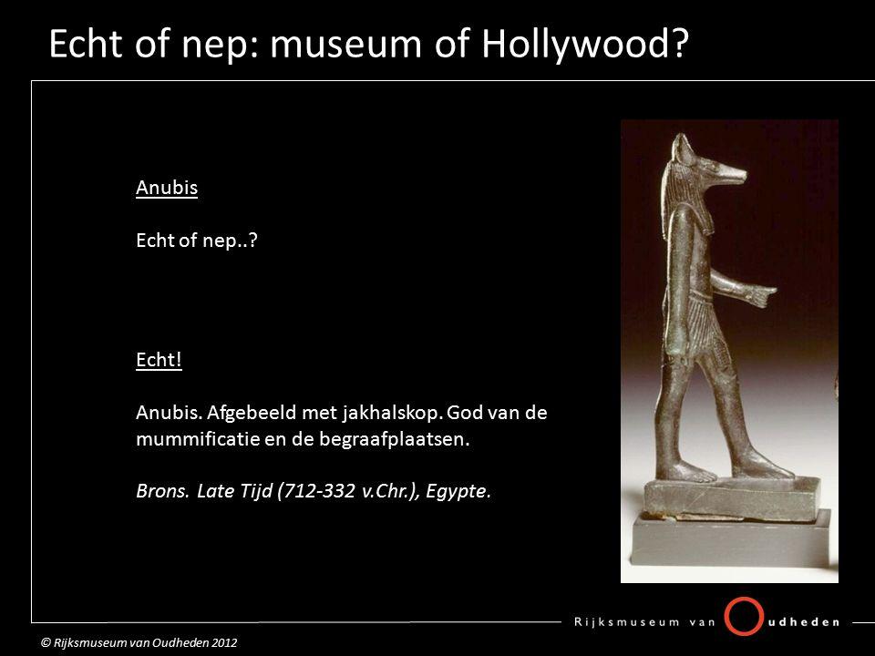Echt of nep: museum of Hollywood.Diadeem Echt of nep...