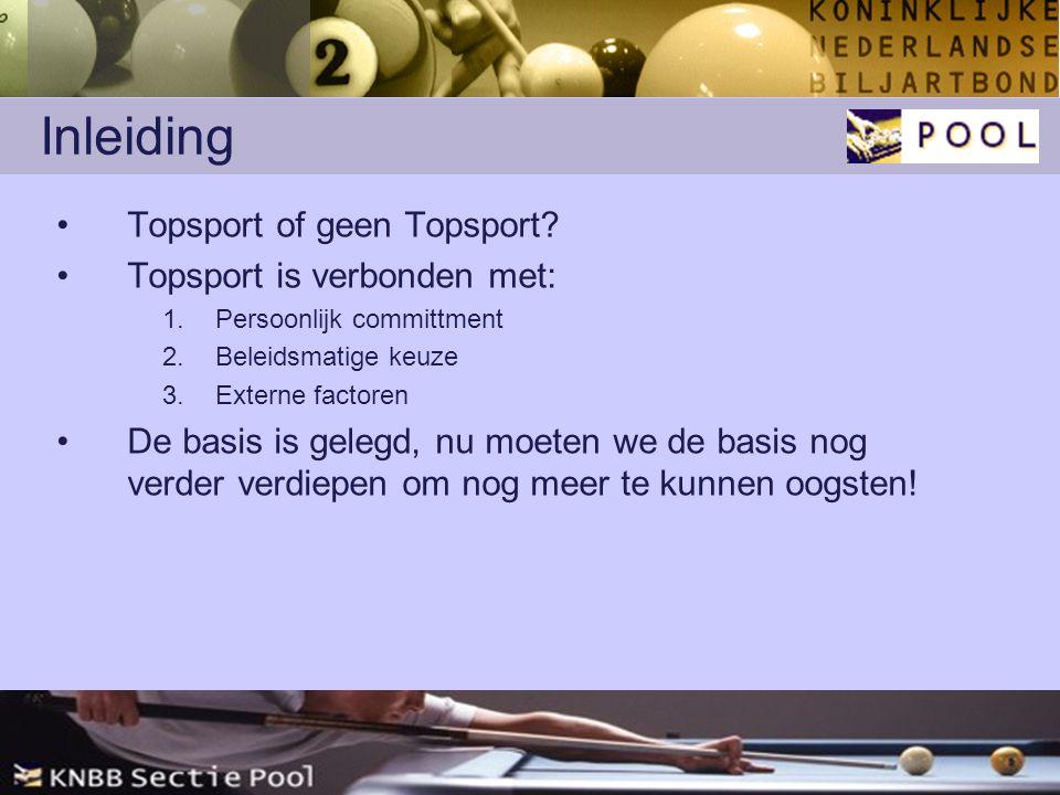 Inleiding Topsport of geen Topsport.