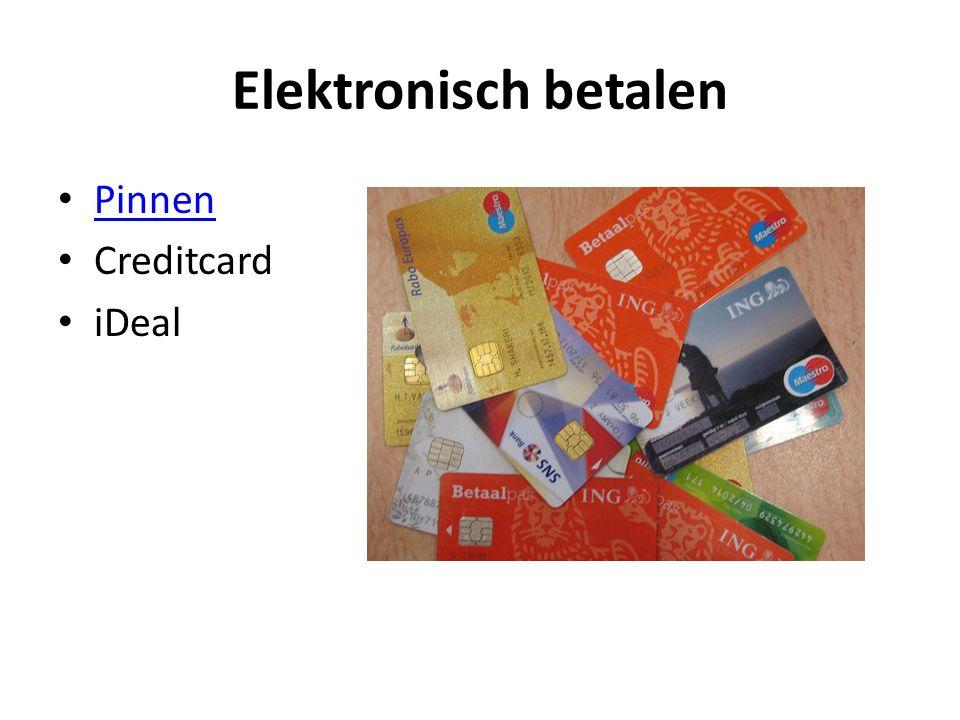 Elektronisch betalen Pinnen Creditcard iDeal
