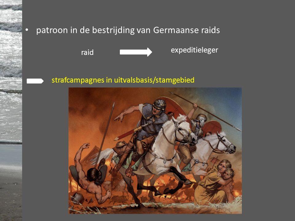 patroon in de bestrijding van Germaanse raids raid expeditieleger strafcampagnes in uitvalsbasis/stamgebied
