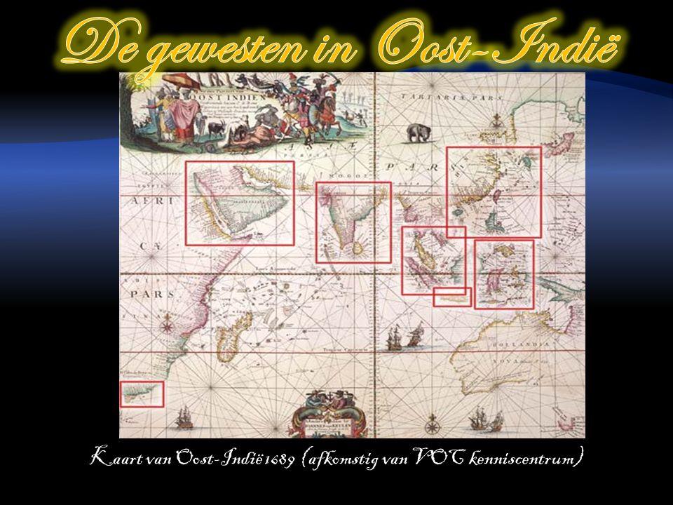 Kaart van Oost-Indië 1689 (afkomstig van VOC kenniscentrum)