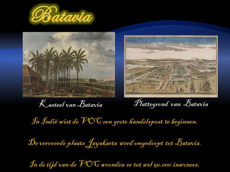 In Indië wist de VOC een grote handelspost te beginnen.