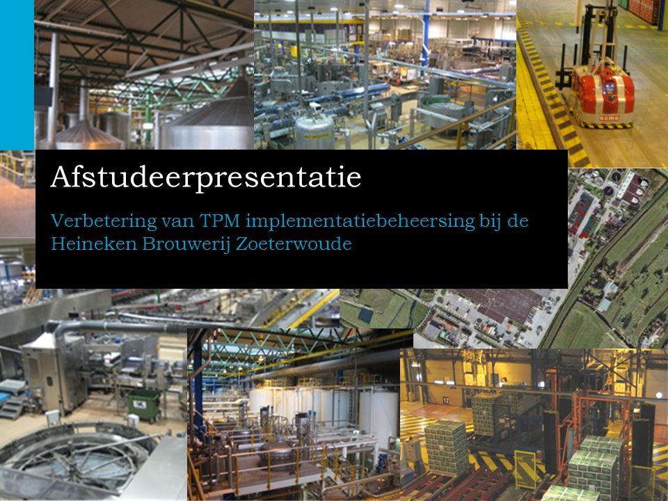 26 Challenge the future Afstudeerpresentatie Verbetering van TPM implementatiebeheersing bij de Heineken Brouwerij Zoeterwoude