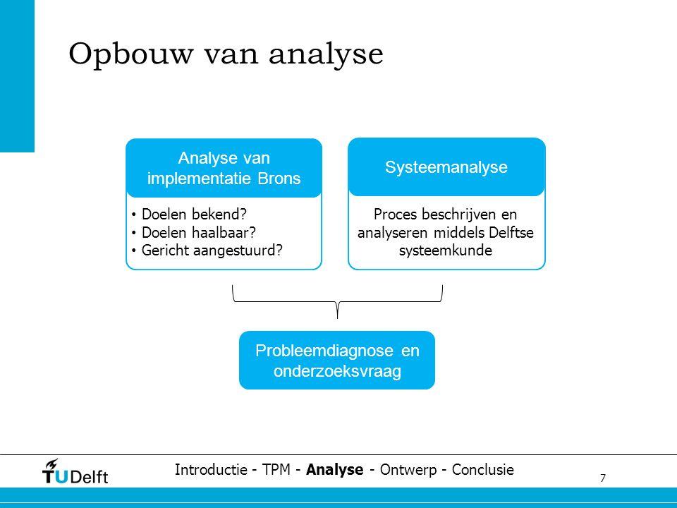 7 Challenge the future Opbouw van analyse Analyse van implementatie Brons Doelen bekend.