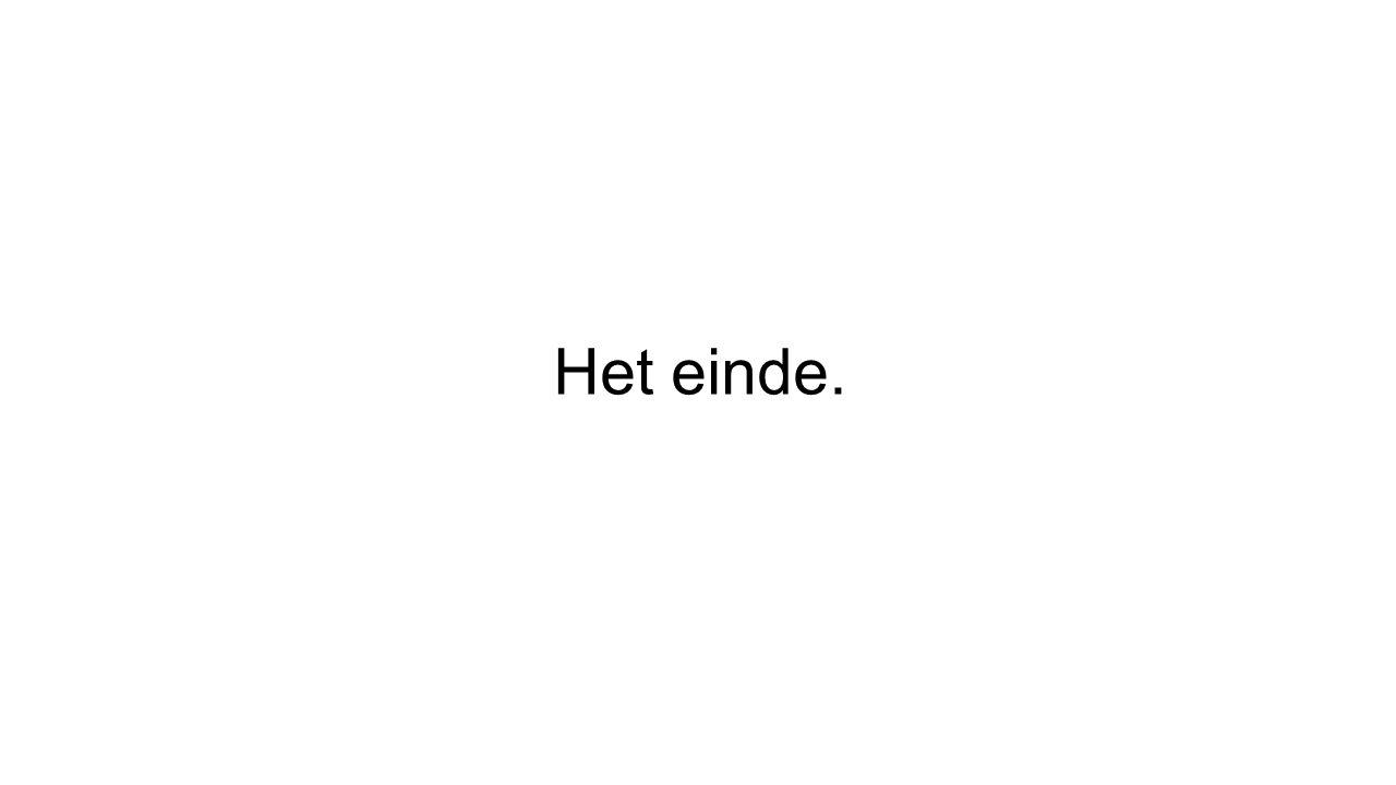 Het einde.