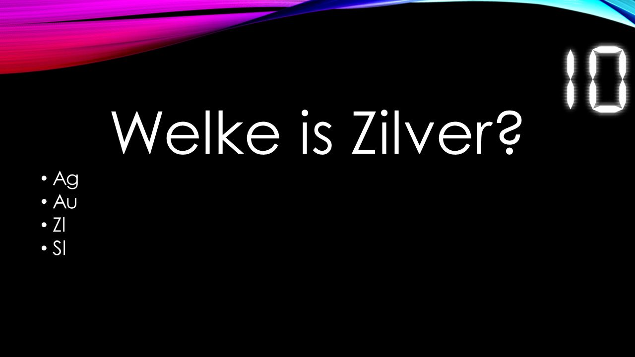 Welke is Zilver? Ag Au Zl Sl