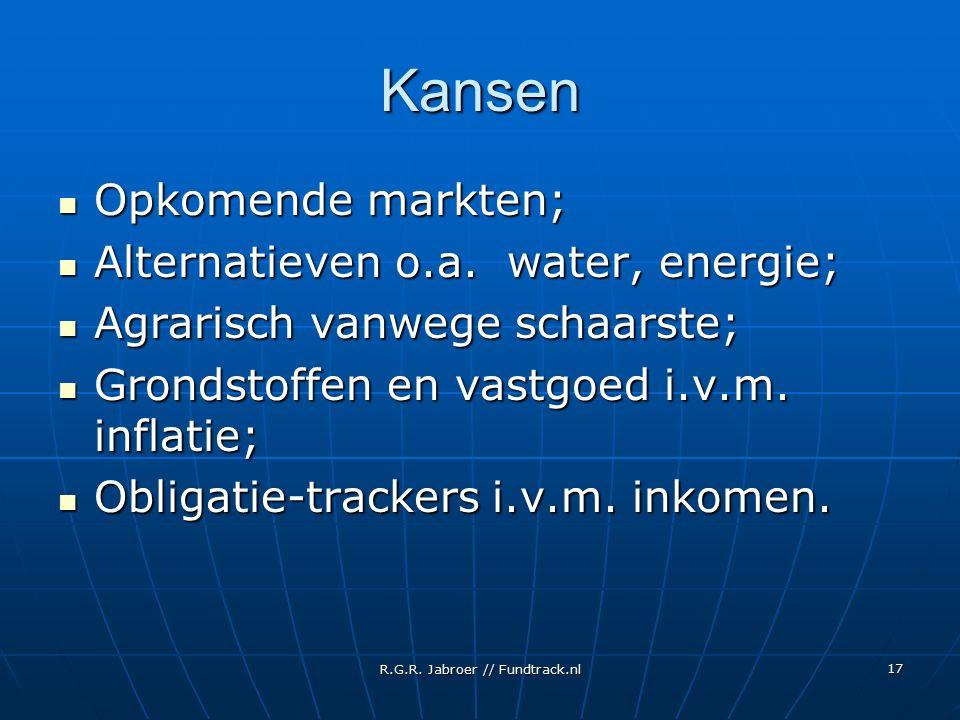 R.G.R. Jabroer // Fundtrack.nl 17 Kansen Opkomende markten; Opkomende markten; Alternatieven o.a. water, energie; Alternatieven o.a. water, energie; A