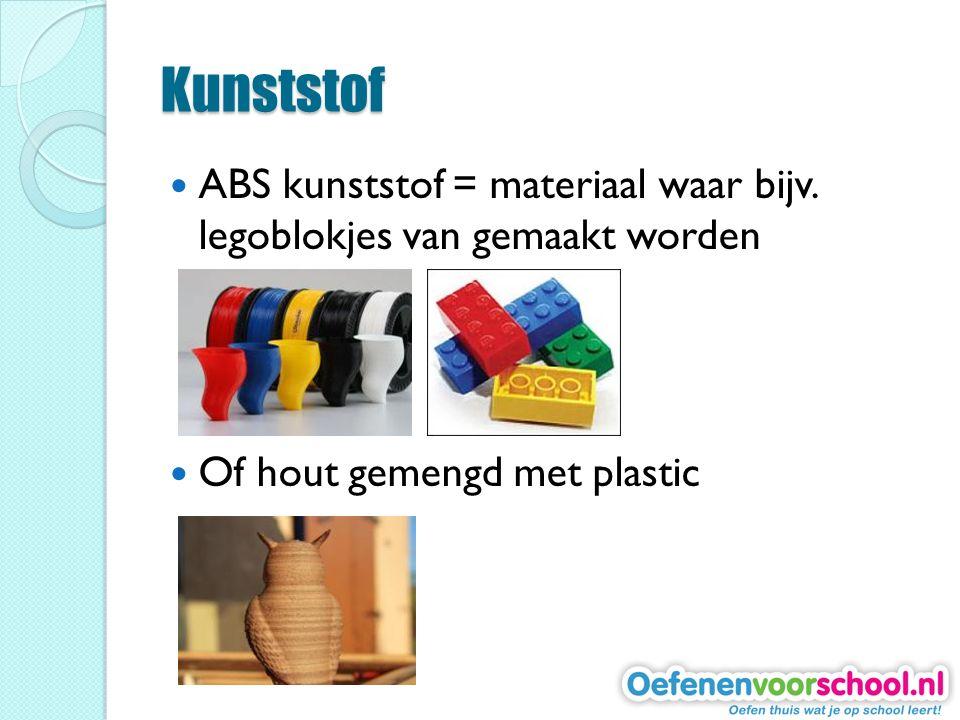Kunststof ABS kunststof = materiaal waar bijv.