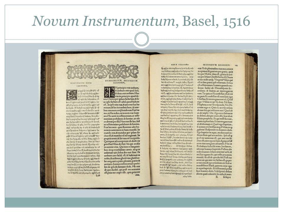 Novum Instrumentum, Basel, 1516