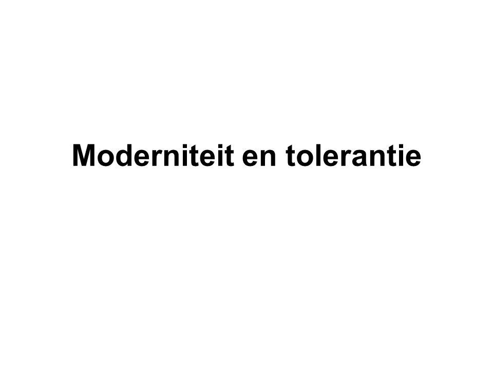 Moderniteit en tolerantie