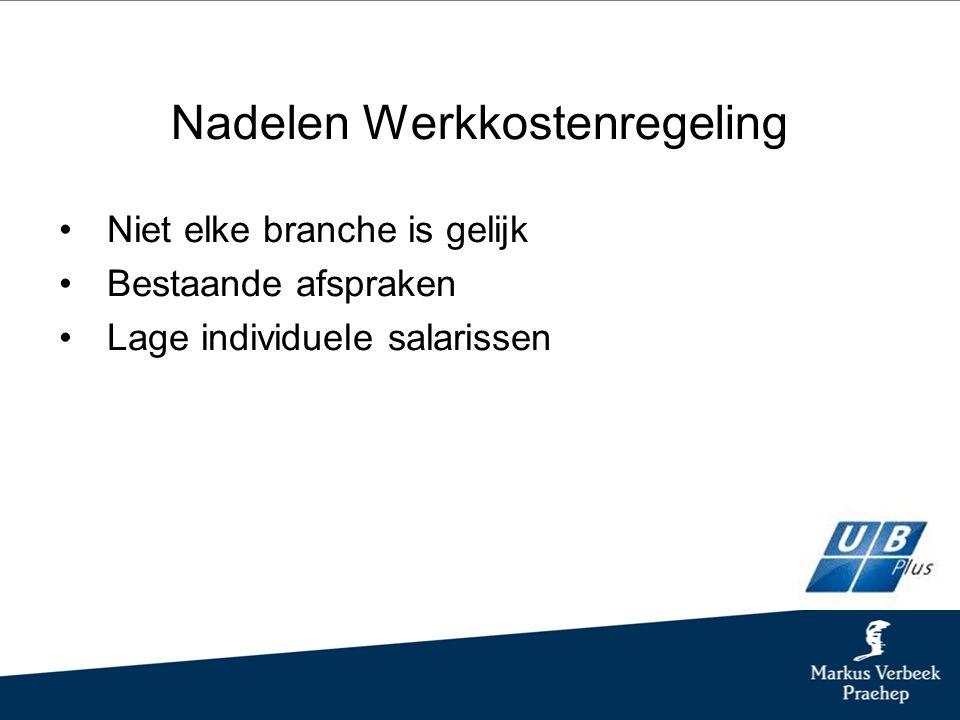 Uitvoering/Proces WKR Is de vergoeding of verstrekking loon.